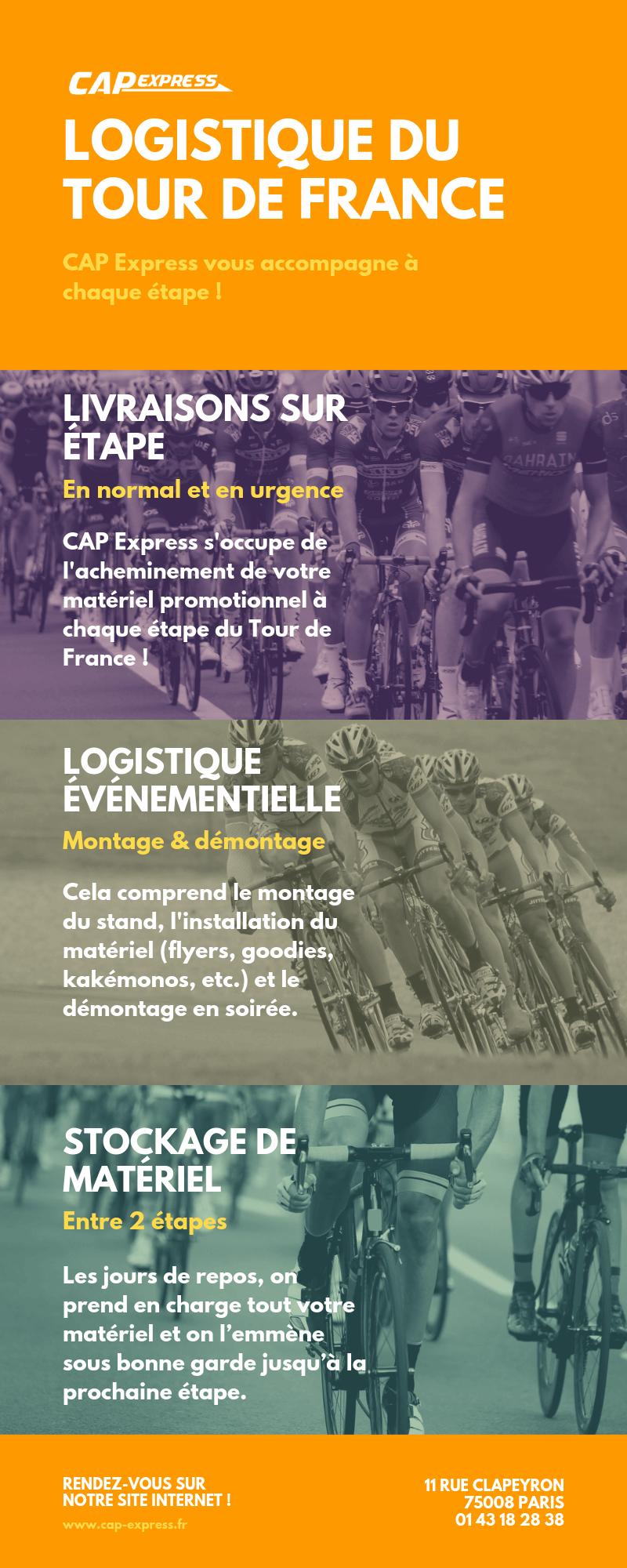 Logistique du Tour de France avec CAP Express