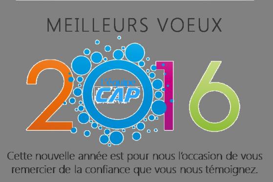 CAP Express vous souhaite une bonne année 2016