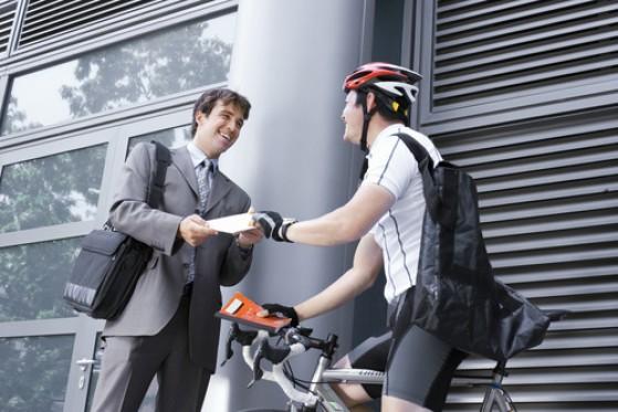 Les coursiers vélos de CAP Express
